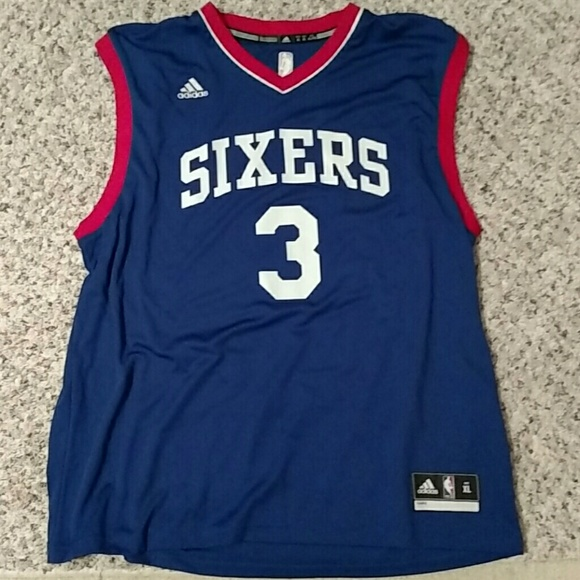 uk availability f3862 b48c3 Mens Allen Iverson Jersey Sixers NBA